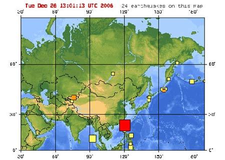 台湾南部发生地震 广州有震感(图)