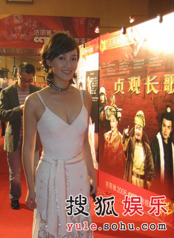 赵琳重回中央电视台 现身电视剧群英汇(组图)