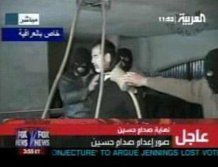 图文:萨达姆受刑过程 被套上夺命绳索
