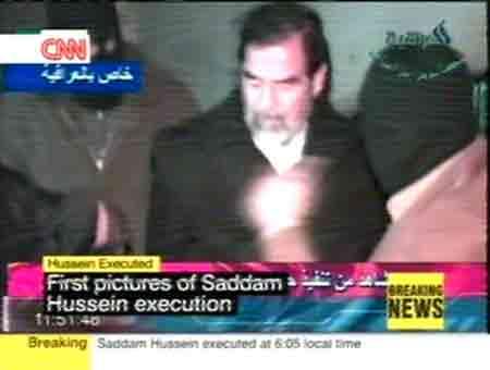 组图:萨达姆11时05分被处死 电视台播受刑过程