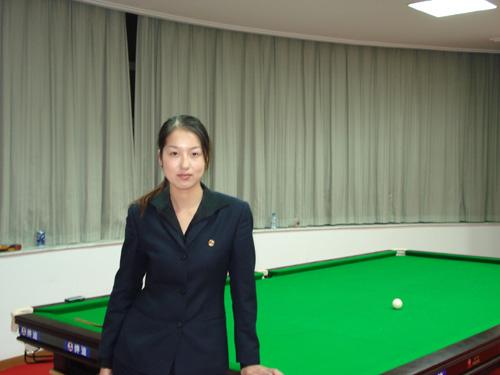 对话美女台球裁判:上海理工大学美女诸瑛