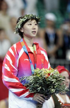 图文:周蜜资料图片 雅典奥运会获女子单打铜牌