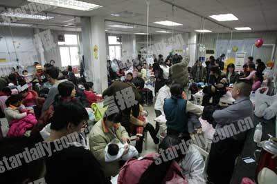 北京儿童医院日诊近八千人 月底流感将回落(图)