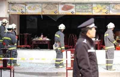 北京王府井一酒店煤气管道爆燃 致12人受伤(图)