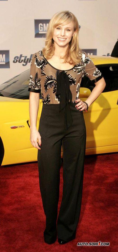 底特律北美车展盛大开幕 影星Kristen Bell到场助阵