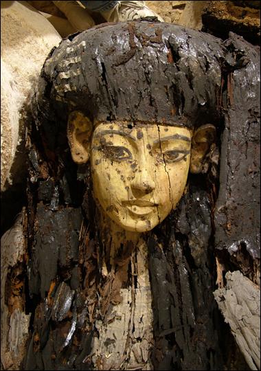 棺材,带有彩色葬礼面具-棺材中竟有没木乃伊 揭秘古墓主人真相图片
