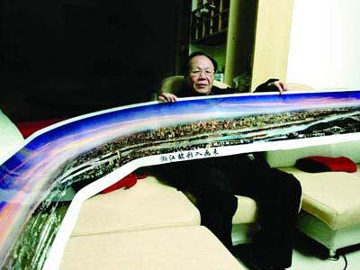 摄影师拍摄25米长照片展现长沙 300万不卖(图)