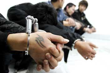 福州5少年组建龙头社 曾手持砍刀上街抢劫(图)