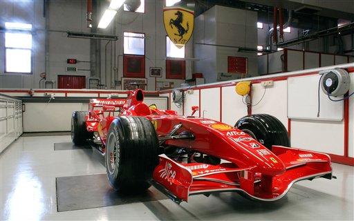 图文:法拉利发布新车F2007 法拉利工厂