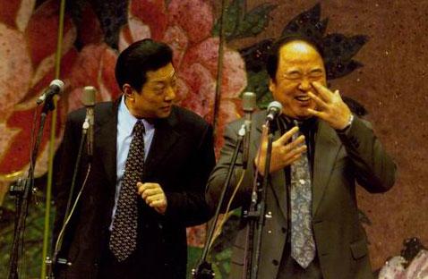 图:传统相声晚会主要演员—常贵田、王佩元