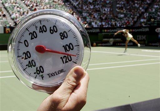 赛场气温超过39度 澳网次日部分比赛因高温推迟