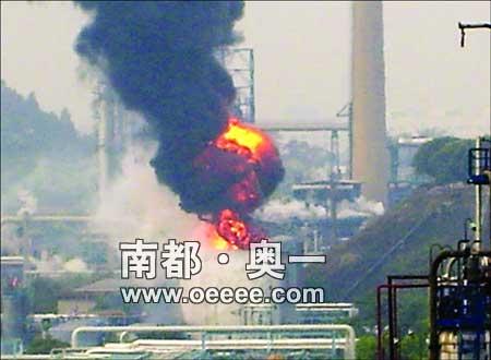 广石化污水回收罐爆炸 事故致1死1重伤