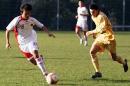 图文:国奥0-3摩纳哥青年队 白磊严密防守
