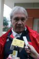 图文:国奥0-3摩纳哥青年队 杜伊接受采访