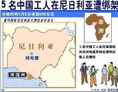 中国工人被绑架示意图
