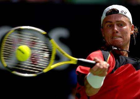 澳网第二轮休伊特晋级 休伊特在比赛中