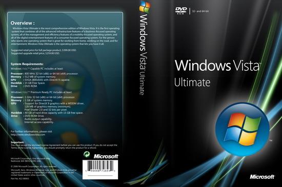 Windows Vista中文正式版价格曝光 比XP贵300