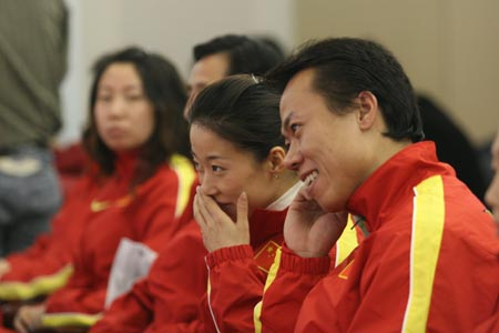 图文:亚冬会中国代表团成立 申雪赵宏博出席