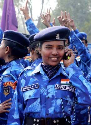 印度125名女警参加利比里亚联合国维和行动(图)