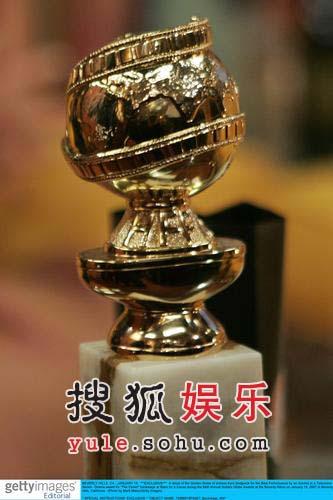 图:第64届美国电影电视金球奖奖杯近照
