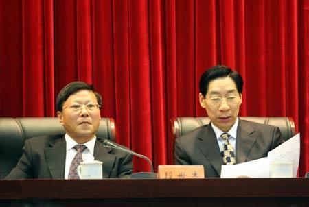 图文:07年全国体育局长会议 段世杰冯建中出席