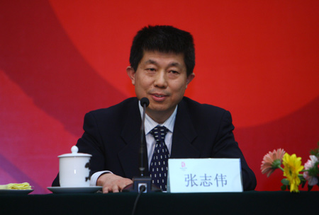 图文:京外志愿者招募新闻发布会 张志伟参加