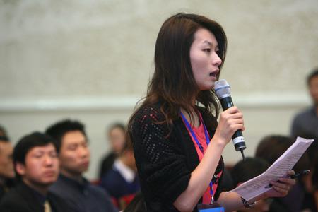 图文:京外赛事志愿者招募发布会 媒体记者提问