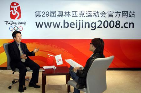图文:奥运京外赛会志愿者招募访谈 访谈现场
