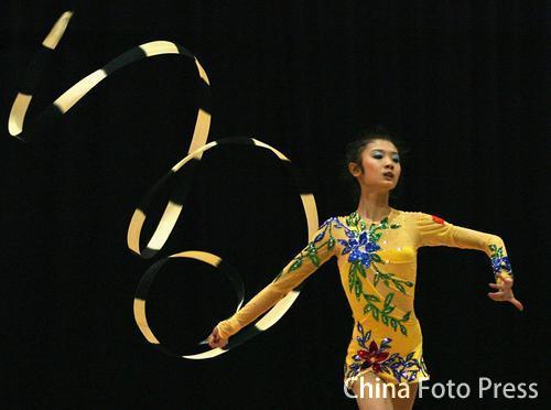 图文:澳大利亚奥林匹克青年节 艺术体操比赛