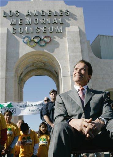 图文:洛杉矶申办2016年奥运 施瓦辛格亲自助阵