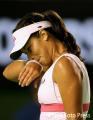 图文:澳网第3轮 伊万诺维奇无奈对手强大