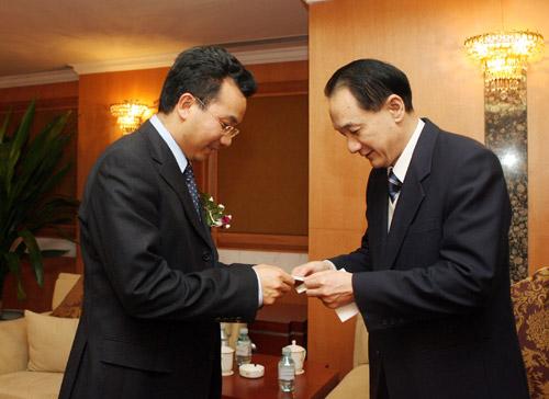 图文:搜狐中国之队合作发布会 谢亚龙与陈陆明
