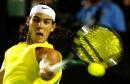 图文:纳达尔晋级澳网16强 纳达尔比赛中回球