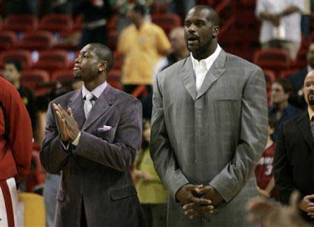 NBA图:韦德奥尼尔同时缺阵 热火仍大胜尼克斯