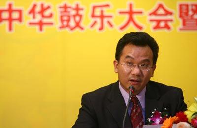 搜狐公司副总裁陈陆明在新闻发布会上致词