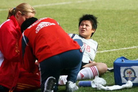 张燕茹初诊为脚踝受伤 能否出战德国还尚未可知