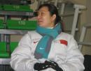 图文:短道比赛在即中国队热身 副领队王春露
