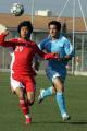 图文:国奥0-0马赛  姜晨与对方后卫