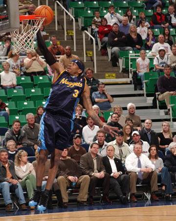NBA图:掘金负爵士 艾弗森急速快攻