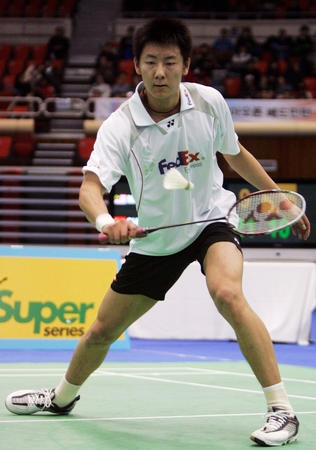 图文:羽毛球韩国公开赛男单半决赛 陈金晋级