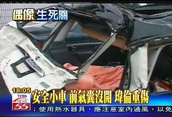 许玮伦车祸经过回放:座驾打滑再被货车追撞
