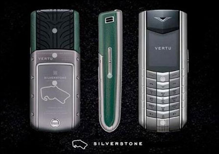vertu手机中的六款,它们皮革颜色不同,背面都刻有不同的比赛路高清图片