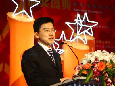 图:中央电视台经济半小时著名主持人马洪涛