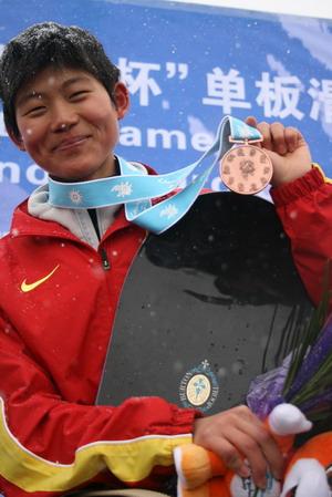 刘佳宇单板铜牌献给父母 超越日本才能立足国际