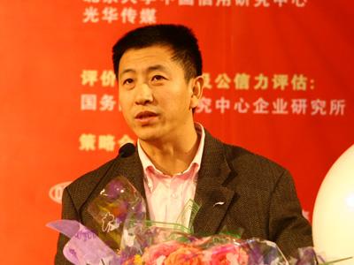 图:李宁代表百秒演讲
