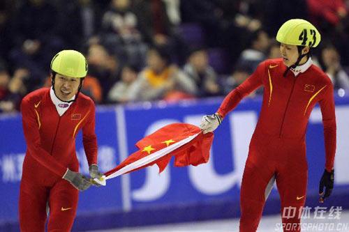 图文:男子短道速滑1500米决赛