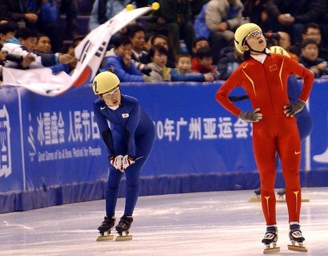 短道速滑女子1500米 韩国包揽金银牌王濛获季军