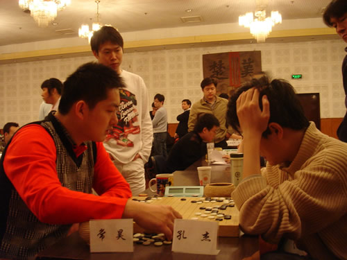 图文:第21届天元赛本赛第一轮 常昊战胜孔杰