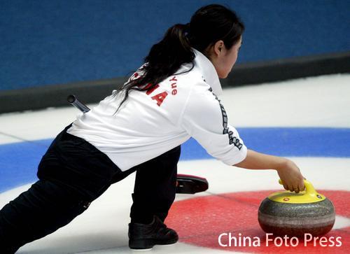 图文:亚冬会女子冰壶比赛结束 中国队不敌日本