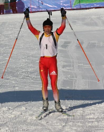 冬季两项女子10公里追逐 中国揽前三孔颖超卫冕